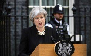 Theresa May announcing a ban on 'Gay Conversion Therapy'