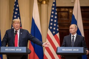 Presidents Trump & Putin at the news conference following their historic summit. Russian election meddling was blandly assumed by one media hack.
