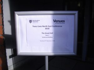 The event notice in the portico of 'Sutherland Building'