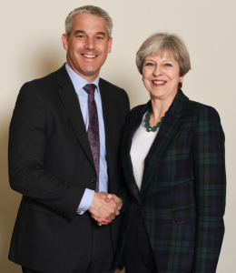 Brexit Secretary Stephen Barclay MP with Prime Minister Theresa May
