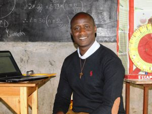 Peter Tabichi, in a photo from the Global Teachers Prize short list, wearing the Franciscan 'Tau' cross.
