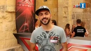 Matthew Grech preparing to appear on Maltese X-Factor