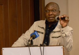 George Kegoro, head of the Kenya Human Rights Commission, in full flow.