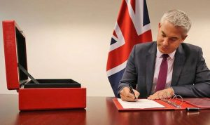 Rt Hon Stephen Barclay MP signs the order to ensure Brexit will happen on Halloween