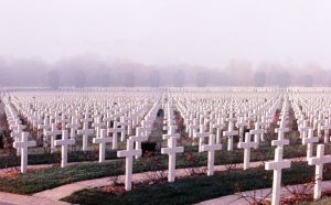 Flanders war graves from the First World War.  Men willingly put their lives on the line for their families.
