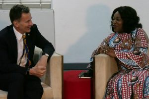 Rt Hon Jeremy Hunt MP with Ghana foreign minister Honorable Shirley Ayorkor Botchway