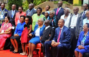 Kenya Christian Professionals Forum - First Lady Mrs Margaret Kenyatta is central in the front row.