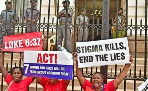 The pro-abortion NGO's dragged up some paid activists to protest against Sozo's posters.