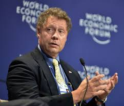 Dr Seth Berkley, CEO of GAVI, seen here addressing the Davos forum, sits on the board of ID2020