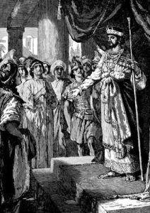 Rehoboam receives wrong advice from the young men.